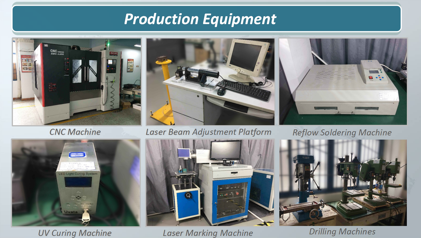 Laser module production equipment