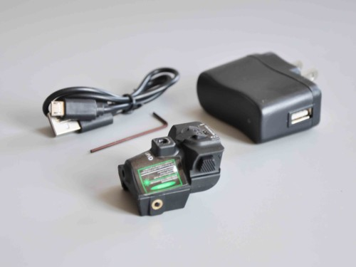 Firearm Picatinny Laser Sight Rechargeable Compact Green Laser Sight for Pistols Handguns