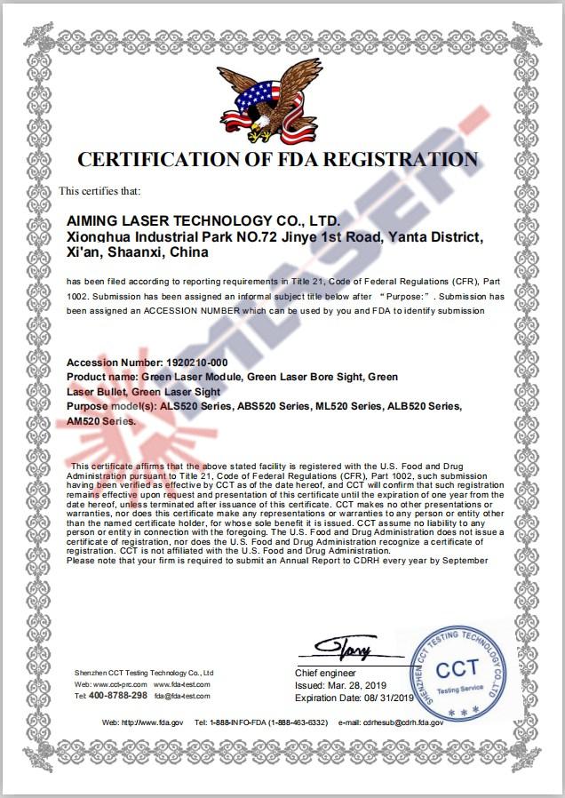AimLaser FDA Green Laser